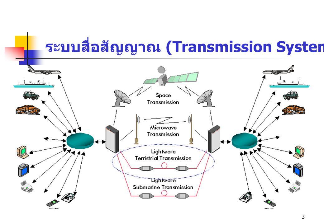 3 ระบบสื่อสัญญาณ (Transmission System)