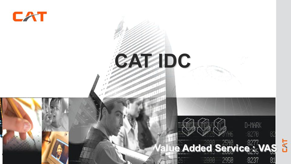 15 Value Added Service : VAS Value Added Service : VAS CAT IDC CAT IDC