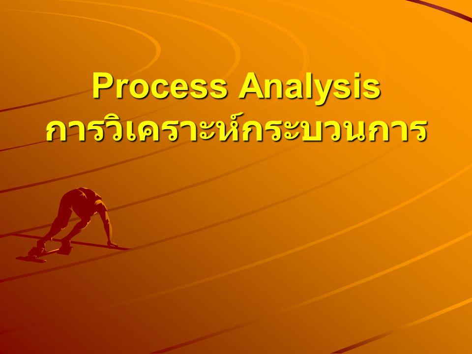 Process Analysis การวิเคราะห์กระบวนการ