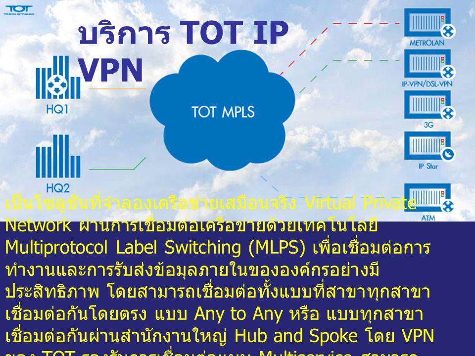 เป็นโซลูชั่นที่จำลองเครือข่ายเสมือนจริง Virtual Private Network ผ่านการเชื่อมต่อเครือข่ายด้วยเทคโนโลยี Multiprotocol Label Switching (MLPS) เพื่อเชื่อ