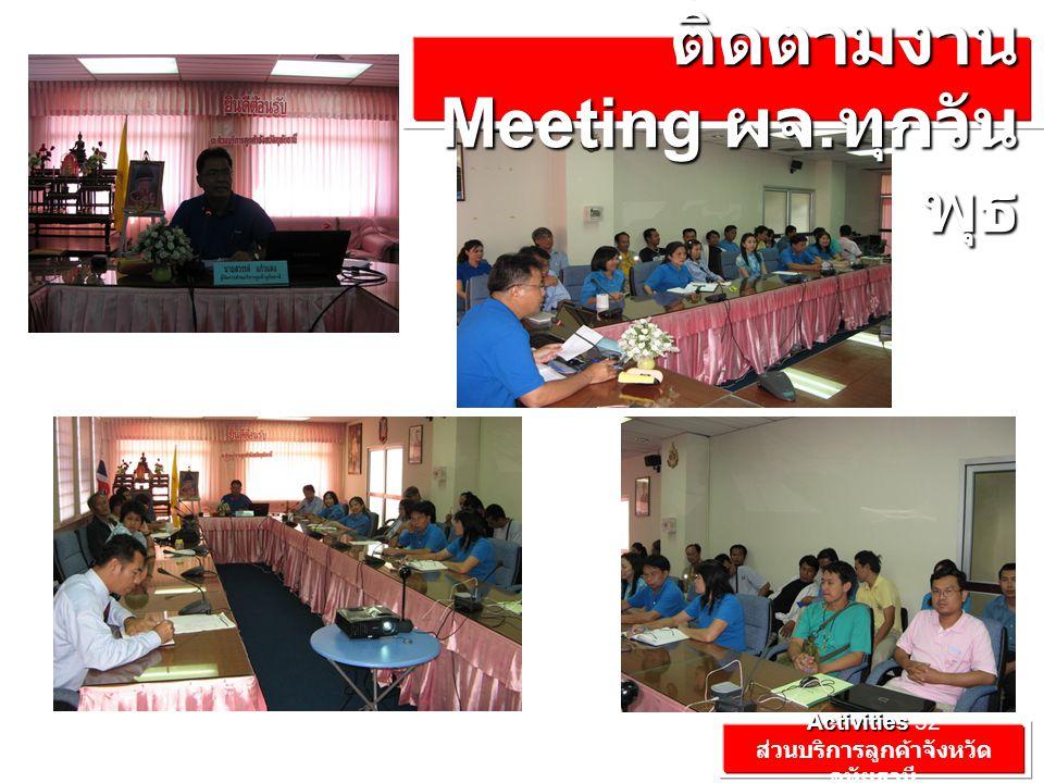 Activities Activities'52 ส่วนบริการลูกค้าจังหวัด อุทัยธานี ประชุม วางแผน ติดตามงาน Meeting ผจ.