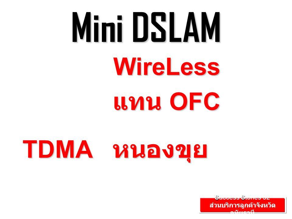 Mini DSLAM TDMA หนองขุย SS Success Stories'52 ส่วนบริการลูกค้าจังหวัด อุทัยธานี WireLess แทน OFC