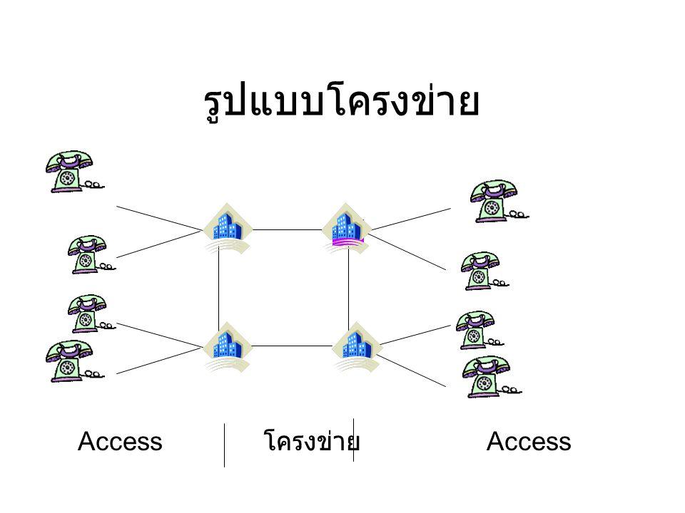 รูปแบบโครงข่าย Access โครงข่าย Access