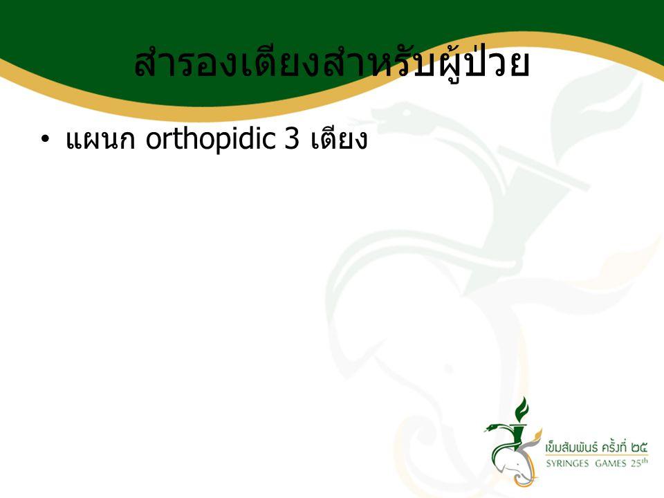 สำรองเตียงสำหรับผู้ป่วย แผนก orthopidic 3 เตียง