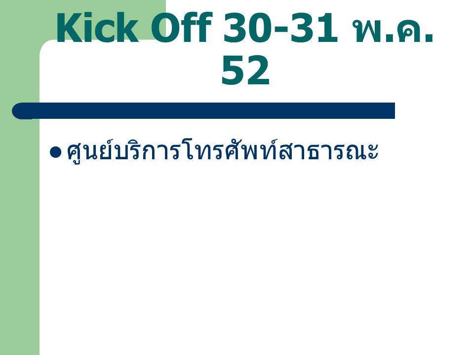 Kick Off 30-31 พ. ค. 52 ศูนย์บริการโทรศัพท์สาธารณะ