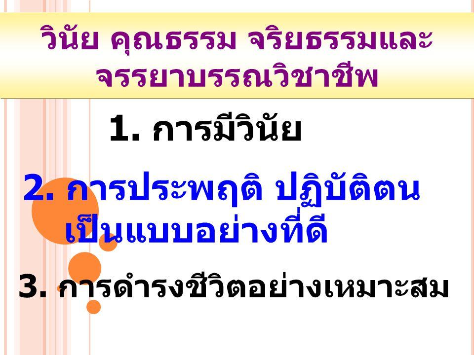 5.ความรับผิดชอบ ในวิชาชีพ วินัย คุณธรรม จริยธรรมและ จรรยาบรรณวิชาชีพ 4.