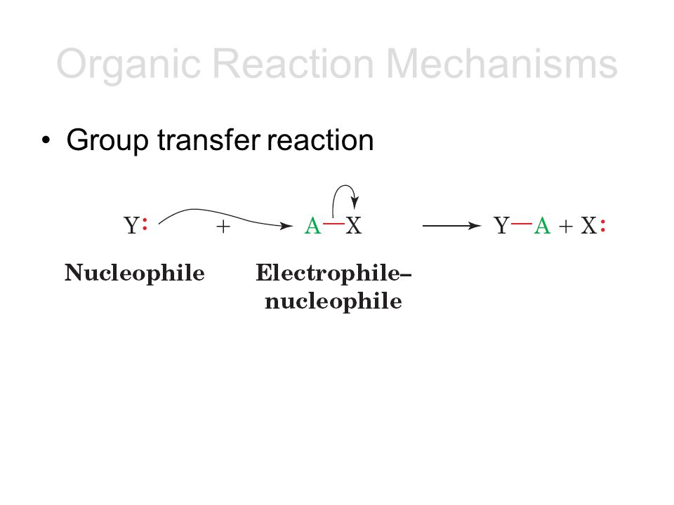 Group transfer reaction