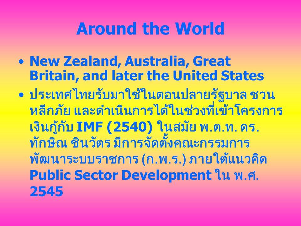 การปฏิรูปการบริหารงานภาครัฐของไทย คือ การเปลี่ยนแปลงใหญ่ในหลายด้าน 1.