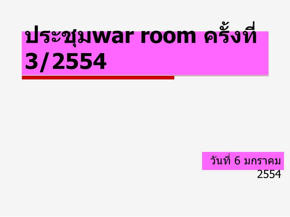 ประชุม war room ครั้งที่ 3/2554 วันที่ 6 มกราคม 2554