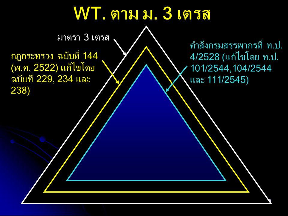 55 WT. ตาม ม. 3 เตรส มาตรา 3 เตรส กฎกระทรวง ฉบับที่ 144 (พ.ศ. 2522) แก้ไขโดย ฉบับที่ 229, 234 และ 238) คำสั่งกรมสรรพากรที่ ท.ป. 4/2528 (แก้ไขโดย ท.ป.