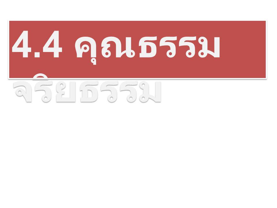 4.4 คุณธรรม จริยธรรม