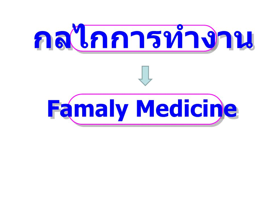 กลไกการทำงาน Famaly Medicine