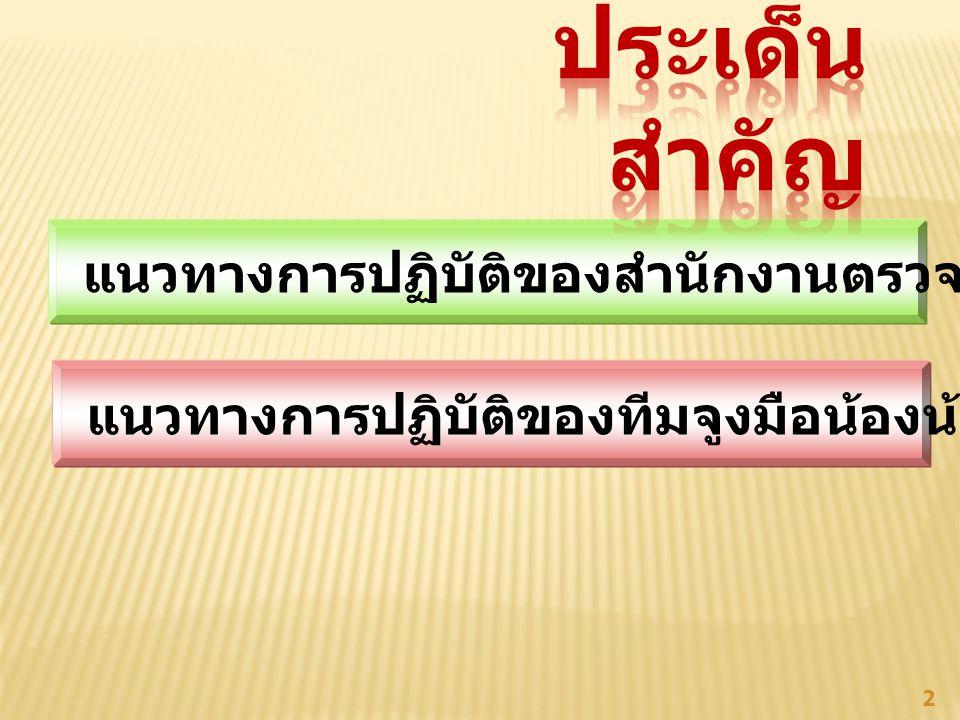 แนวทางการปฏิบัติของสำนักงานตรวจบัญชีสหกรณ์ 3
