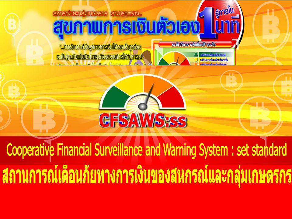 1.พัฒนาการเครื่องมือเตือนภัยทางการเงิน CFSAWS:ss ประเด็น 2.