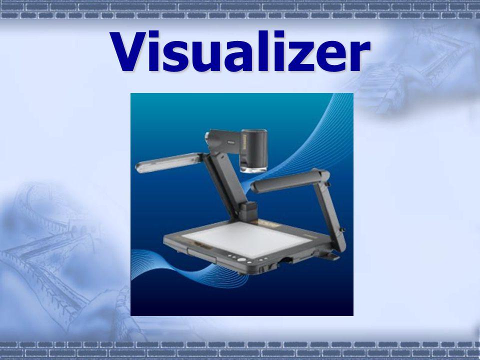 VisualizerVisualizer เราคงเคยได้ยินการเรียกชื่อเครื่องอะไรสัก อย่างที่อาจจะเรียกต่างกัน แต่ก็พูดในเรื่อง เดียวกัน ( หรือเปล่า ?) คงเคยได้ยิน Sony ตั้งชื่อ presentation stand ส่วน Panasonic ตั้งชื่อ Video Imager ส่วนบริษัทอื่น ๆ ใช้ชื่อว่า Visualizer Document Cameras ส่วนภาค ภาษาไทยก็เรียกกันสารพัดเช่นกัน เช่น เครื่อง ฉายภาพสามมิติ เครื่องวิชวลไลเซอร์ และแท่น นำเสนอภาพ เป็นต้น