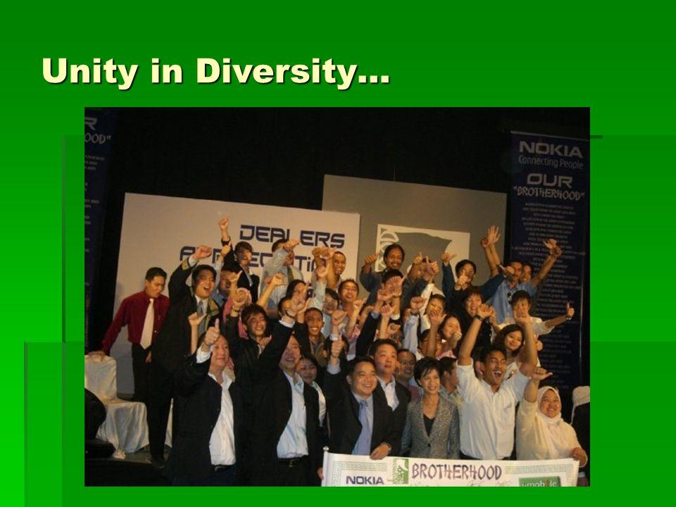 Unity in Diversity…