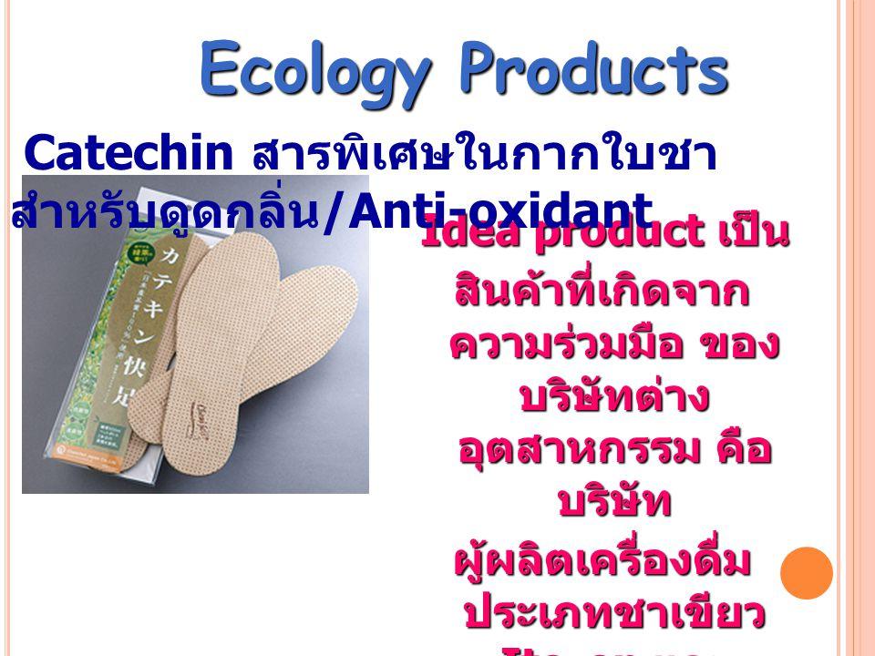 Idea product เป็น Idea product เป็น สินค้าที่เกิดจาก ความร่วมมือ ของ บริษัทต่าง อุตสาหกรรม คือ บริษัท ผู้ผลิตเครื่องดื่ม ประเภทชาเขียว Ito-en และ บริษ