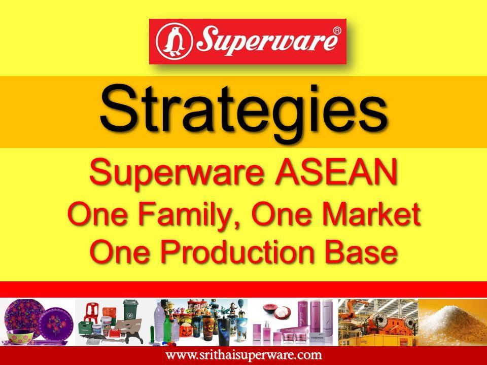 StrategiesStrategies Superware ASEAN One Family, One Market One Production Base www.srithaisuperware.com