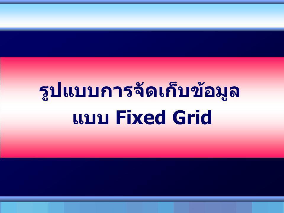 รูปแบบการจัดเก็บข้อมูล แบบ Fixed Grid