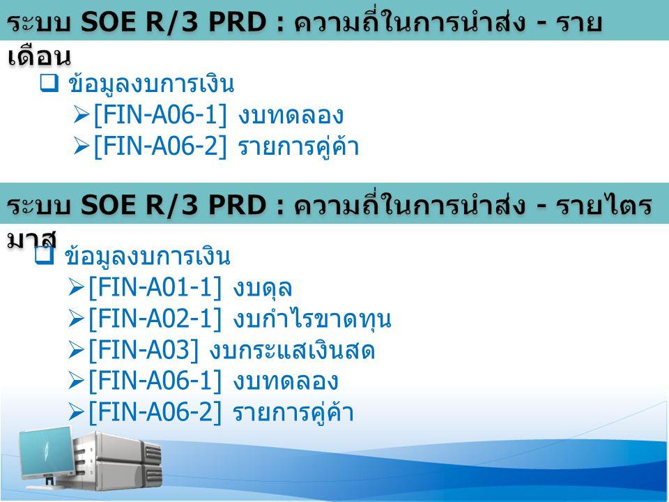  ข้อมูลงบการเงิน  [FIN-A06-1] งบทดลอง  [FIN-A06-2] รายการคู่ค้า  ข้อมูลงบการเงิน  [FIN-A01-1] งบดุล  [FIN-A02-1] งบกำไรขาดทุน  [FIN-A03] งบกระแสเงินสด  [FIN-A06-1] งบทดลอง  [FIN-A06-2] รายการคู่ค้า