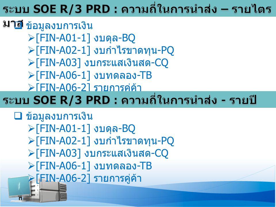  ข้อมูลงบการเงิน  [FIN-A01-1] งบดุล -BQ  [FIN-A02-1] งบกำไรขาดทุน -PQ  [FIN-A03] งบกระแสเงินสด -CQ  [FIN-A06-1] งบทดลอง -TB  [FIN-A06-2] รายการคู่ค้า  ข้อมูลงบการเงิน  [FIN-A01-1] งบดุล -BQ  [FIN-A02-1] งบกำไรขาดทุน -PQ  [FIN-A03] งบกระแสเงินสด -CQ  [FIN-A06-1] งบทดลอง -TB  [FIN-A06-2] รายการคู่ค้า