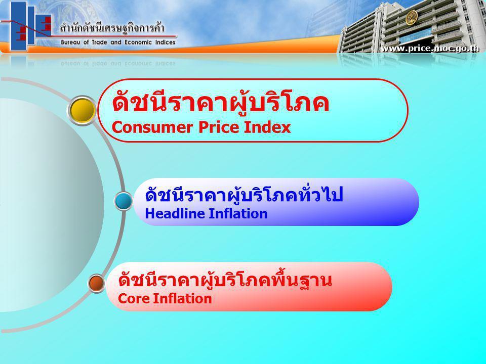www.price.moc.go.th ดัชนีราคาผู้บริโภคพื้นฐานของประเทศ พค.52 เทียบเฉลี่ยระยะเดียวกันปีก่อน