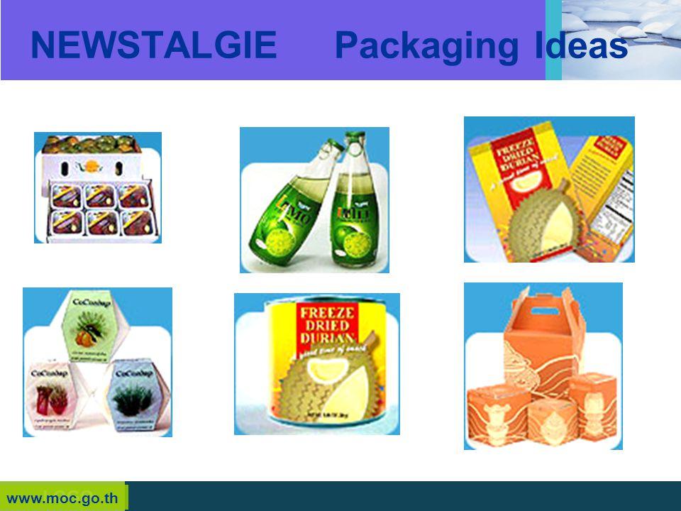 LOGO NEWSTALGIE Packaging Ideas www.moc.go.th