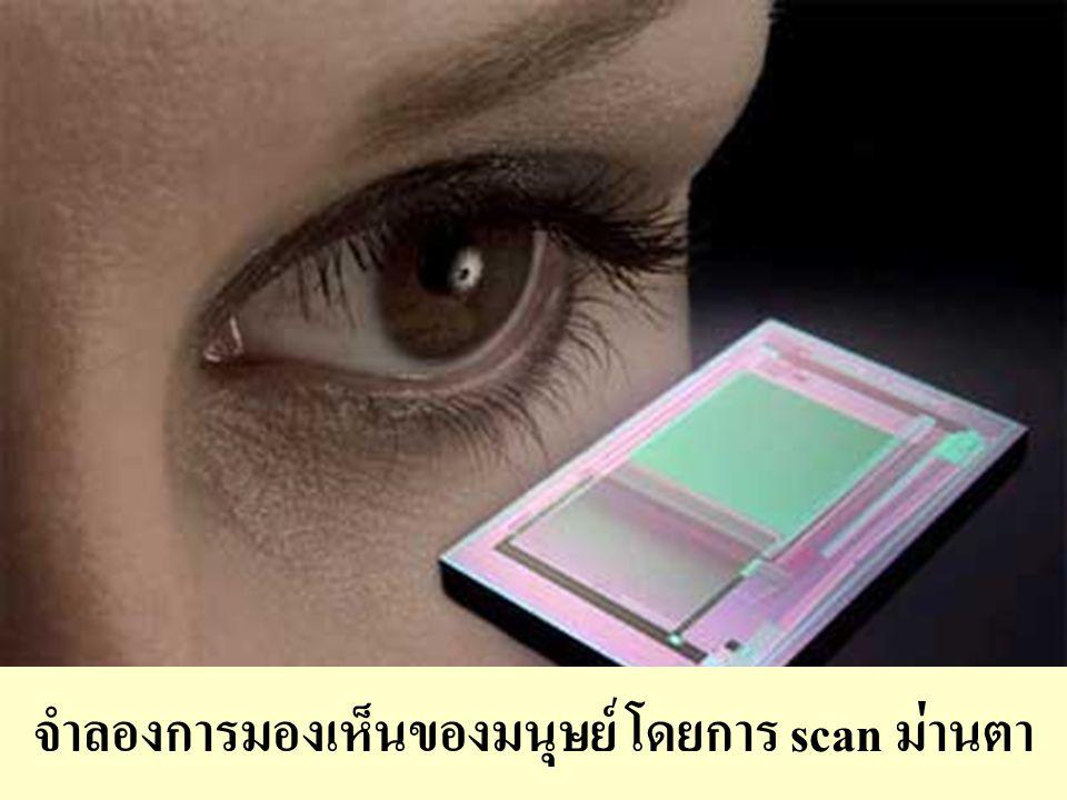 13 จำลองการมองเห็นของมนุษย์ โดยการ scan ม่านตา
