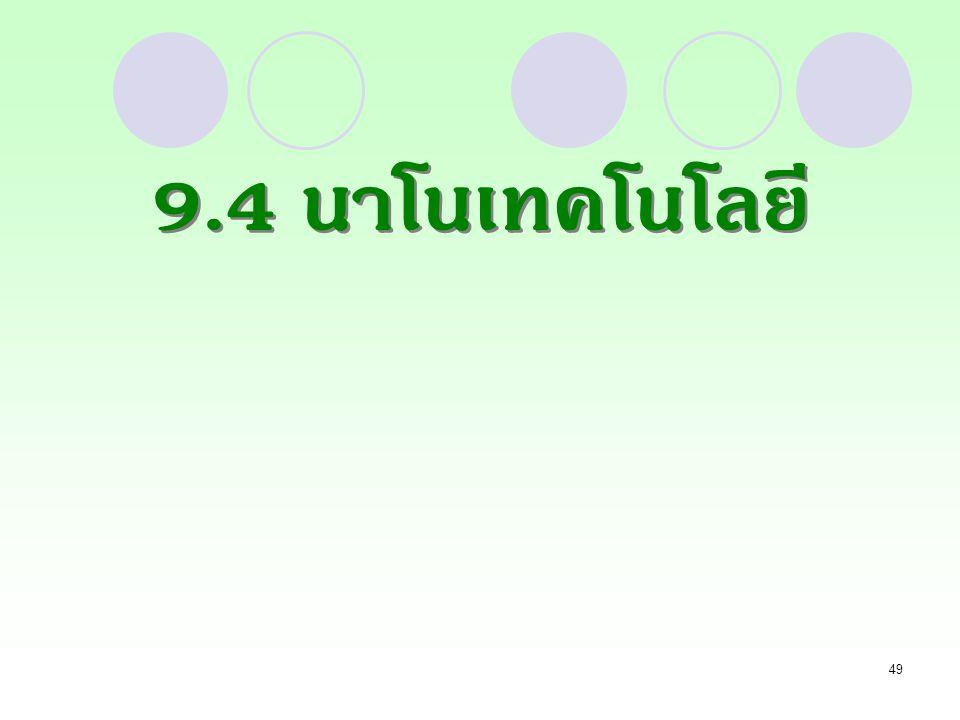 49 9.4 นาโนเทคโนโลยี