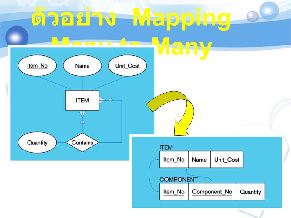 ตัวอย่าง Mapping Many-to-Many