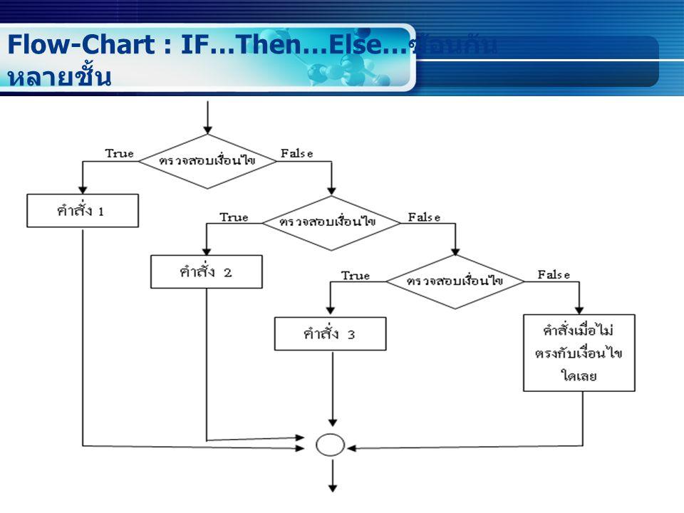 Flow-Chart : IF…Then…Else… ซ้อนกัน หลายชั้น