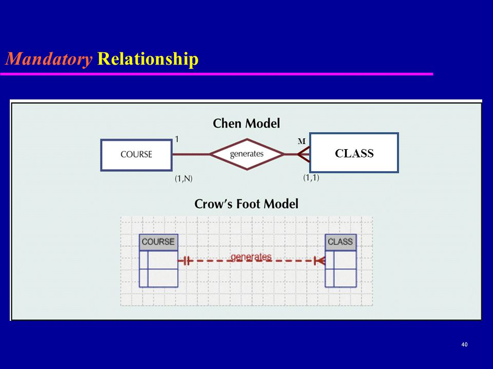 40 Mandatory Relationship CLASS M