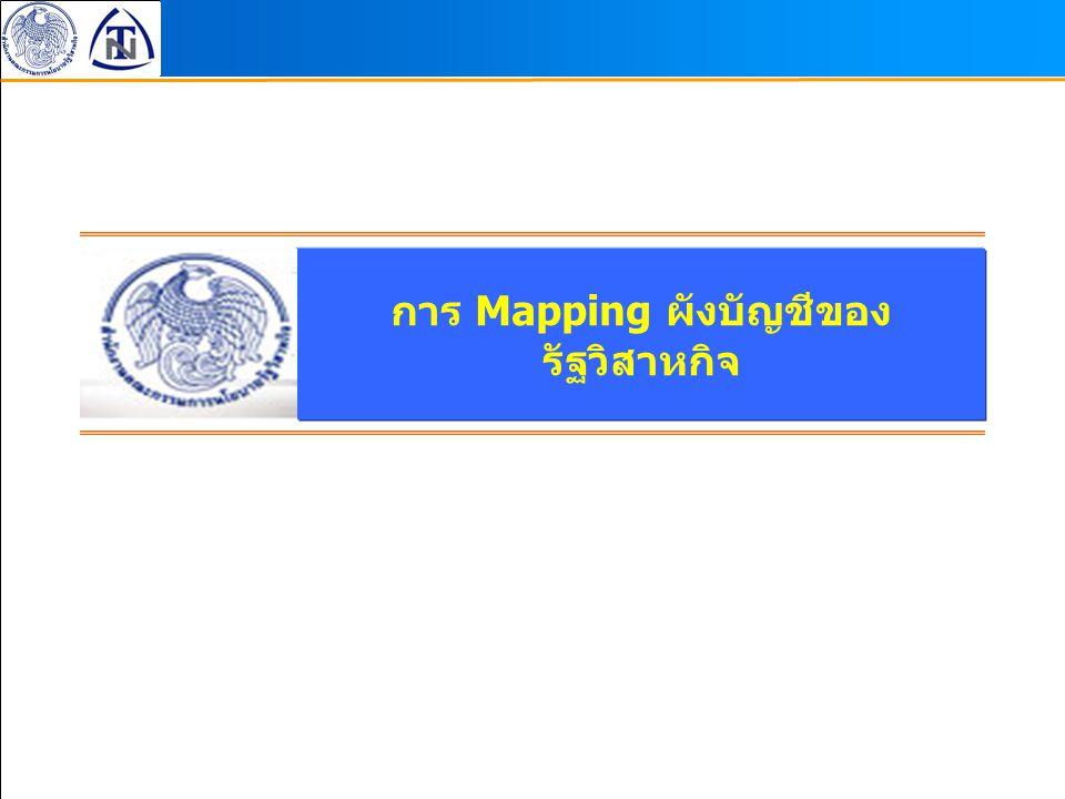 การ Mapping ผังบัญชีของ รัฐวิสาหกิจ