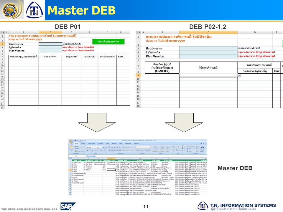 Master DEB 11 DEB P01DEB P02-1,2 Master DEB