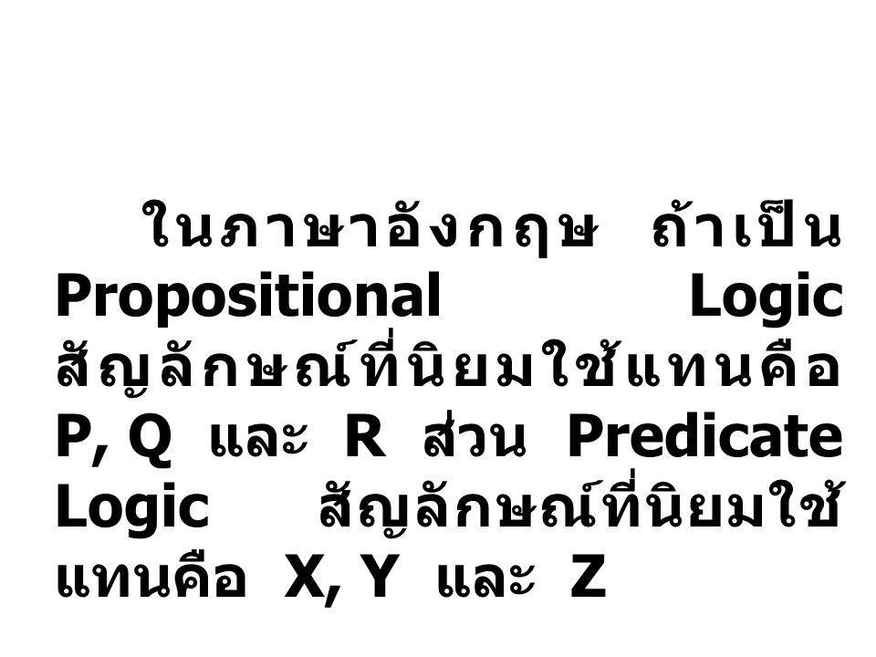 - คนไทยชอบยิ้ม = ท - มหาวิทยาลัย คือ สถาบันอุดมศึกษา = ม - Love is blind= L - Aristotle is a logician.= A