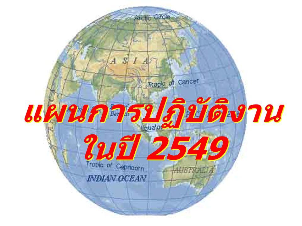 แผนการปฏิบัติงาน ในปี 2549