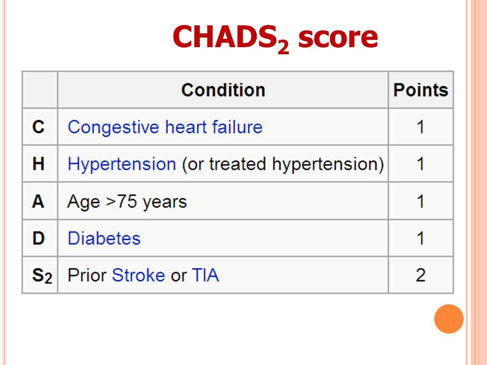 CHADS 2 score
