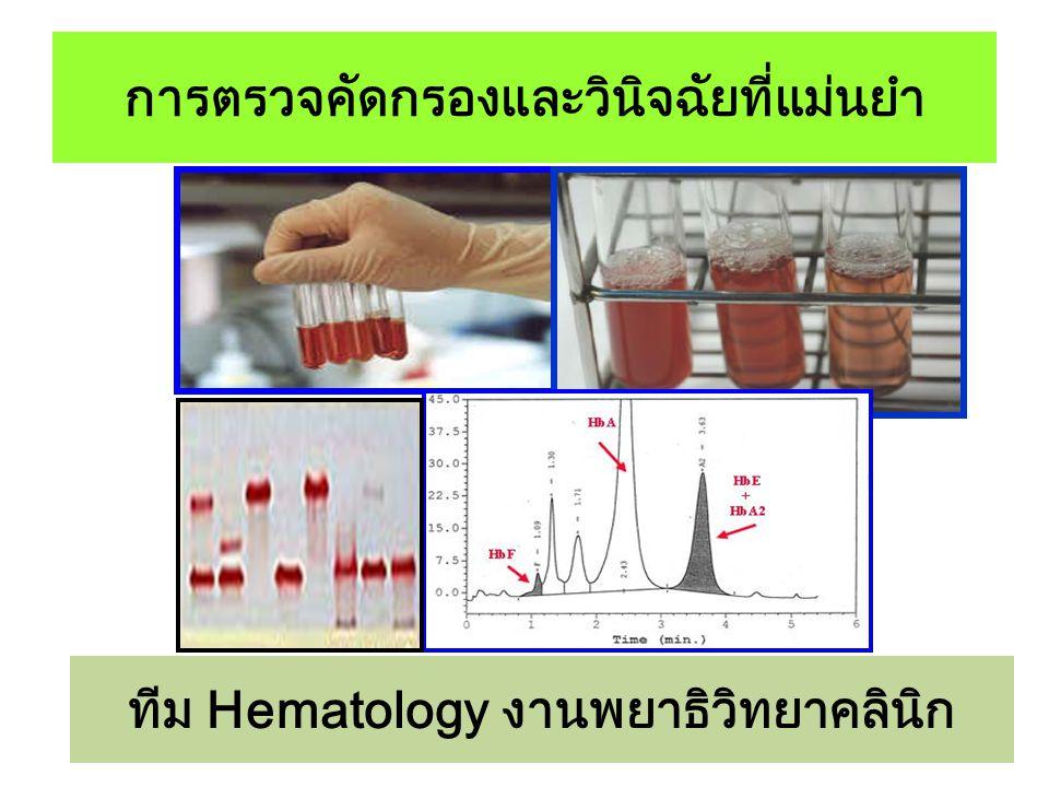 การตรวจคัดกรองและวินิจฉัยที่แม่นยำ ทีม Hematology งานพยาธิวิทยาคลินิก