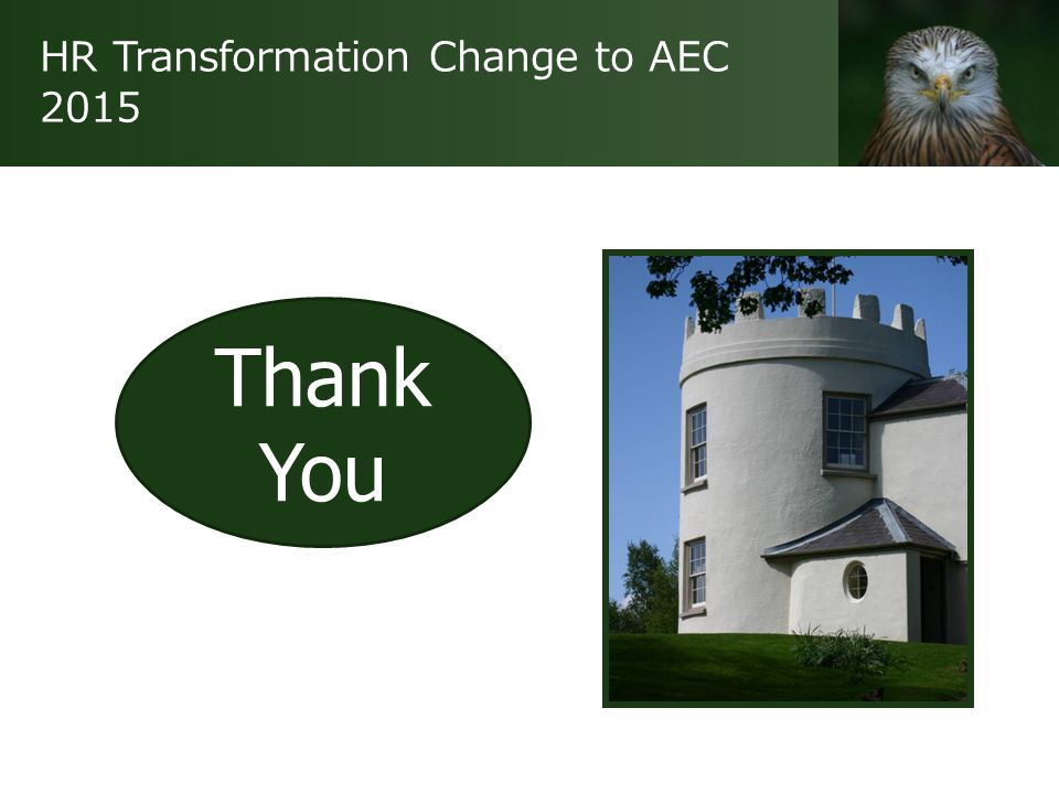 HR Transformation Change to AEC 2015 Thank You