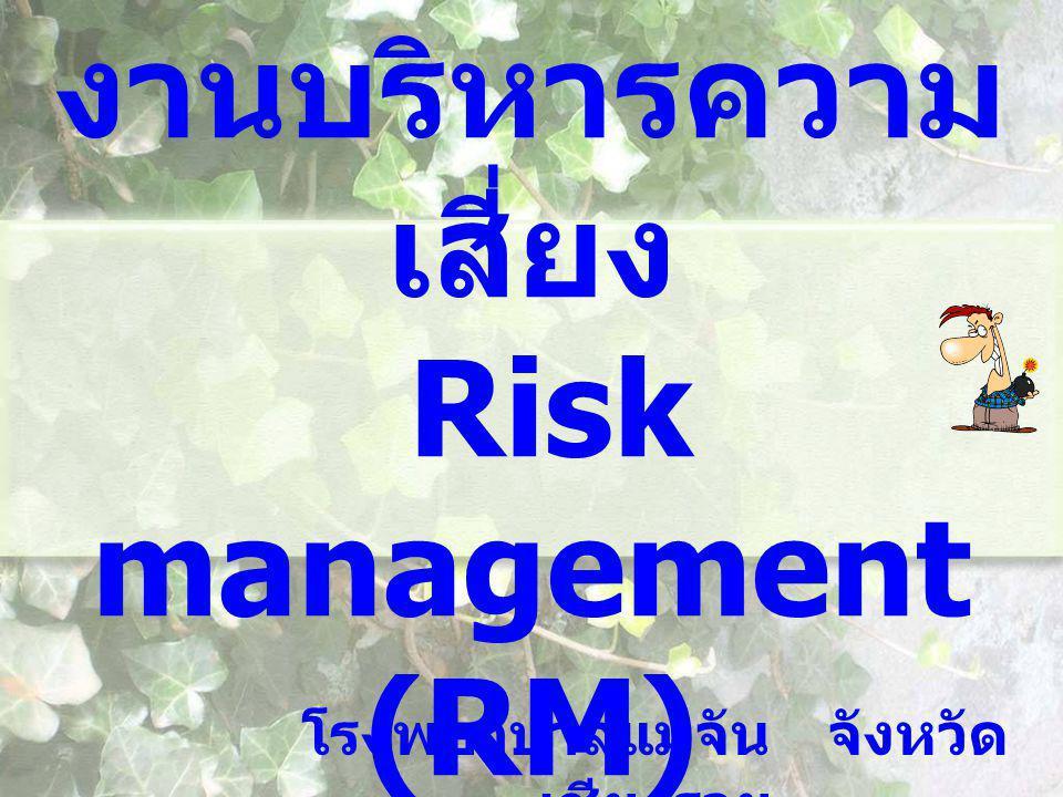 งานบริหารความ เสี่ยง Risk management (RM) โรงพยาบาลแม่จัน จังหวัด เชียงราย