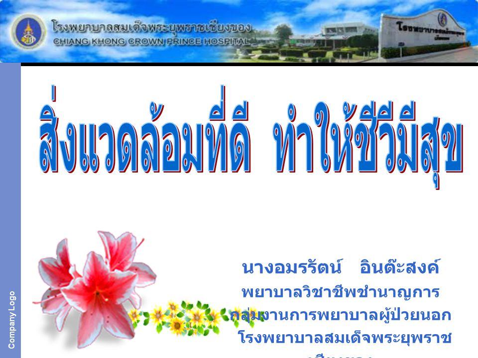 Company Logo นางอมรรัตน์ อินต๊ะสงค์ พยาบาลวิชาชีพชำนาญการ กลุ่มงานการพยาบาลผู้ป่วยนอก โรงพยาบาลสมเด็จพระยุพราช เชียงของ