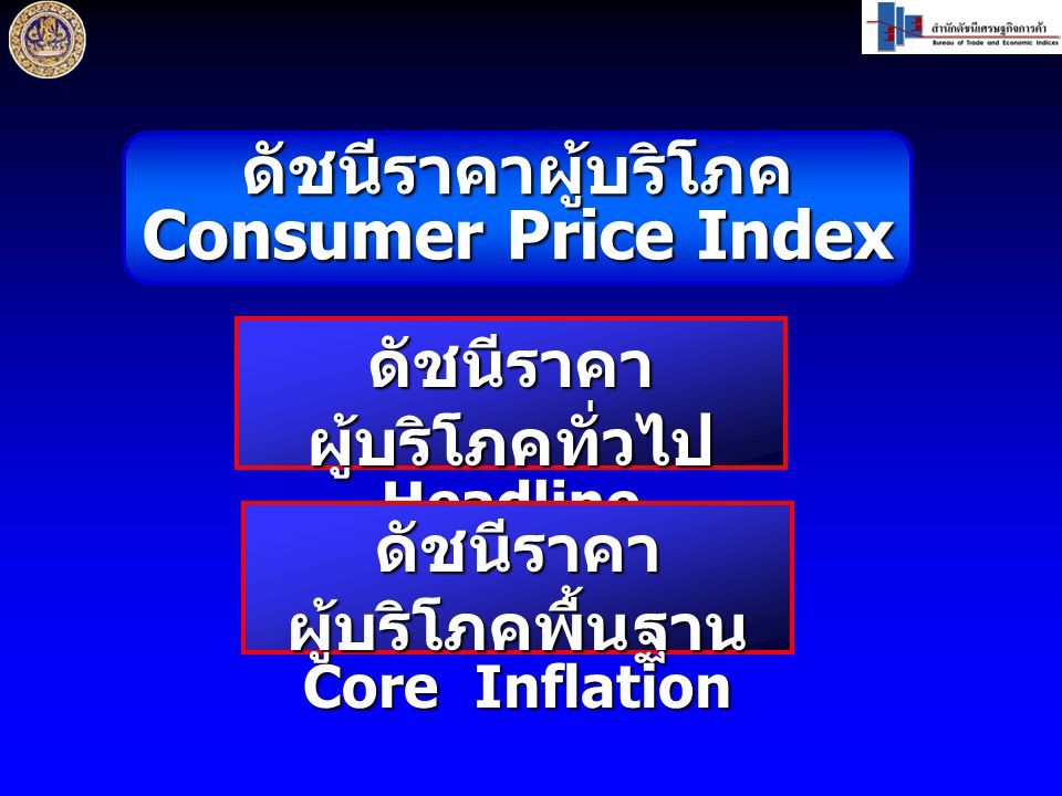 อัตราการเปลี่ยนแปลงของดัชนีราคา ผู้บริโภคพื้นฐานของประเทศ อัตรา (%) เทียบเฉลี่ยระยะ เดียวกันปีก่อน