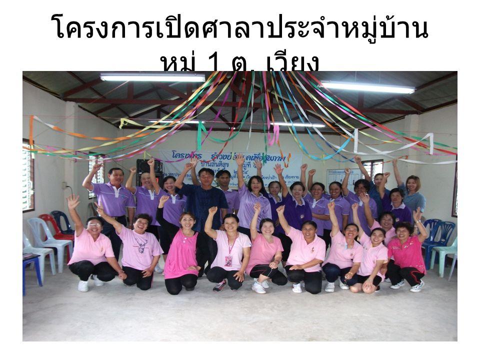 โครงการเปิดศาลาประจำหมู่บ้าน หมู่ 1 ต. เวียง