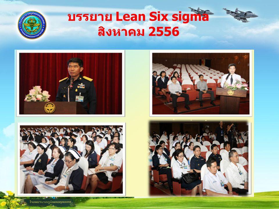 บรรยาย Lean Six sigma สิงหาคม 2556