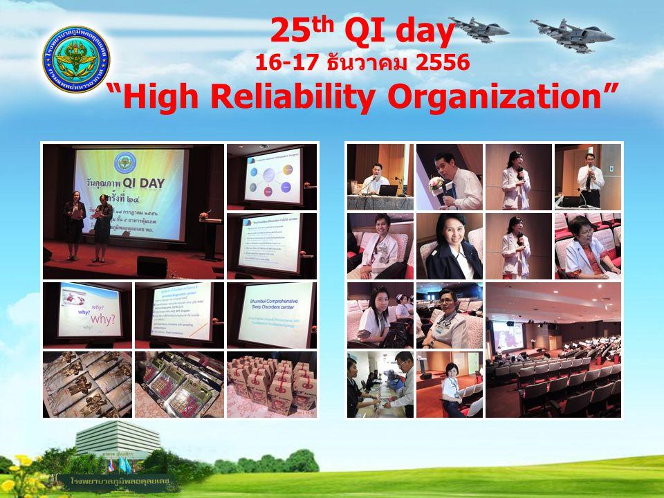 """25 th QI day 16-17 ธันวาคม 2556 """"High Reliability Organization"""""""