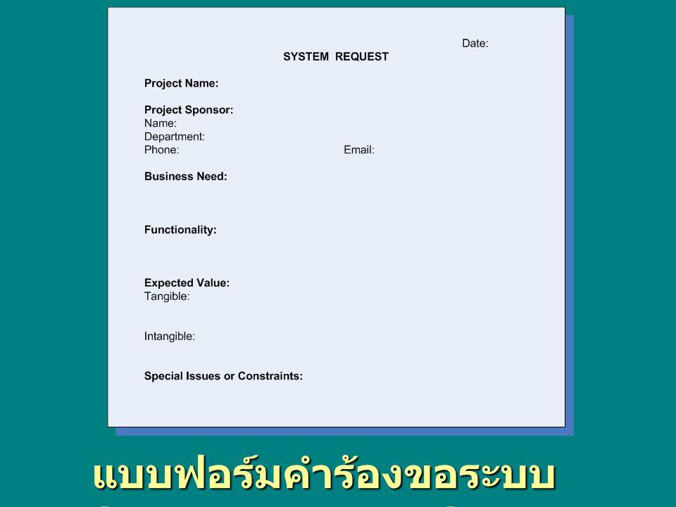 แบบฟอร์มคำร้องขอระบบ (System Request)