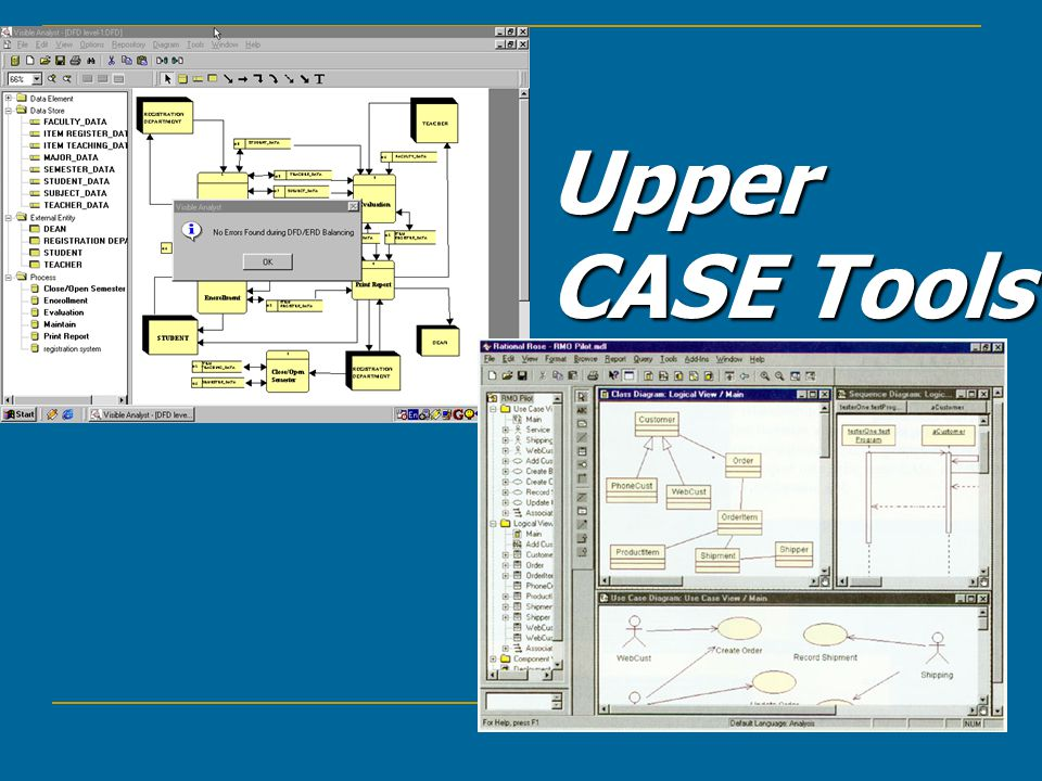 Upper CASE Tools