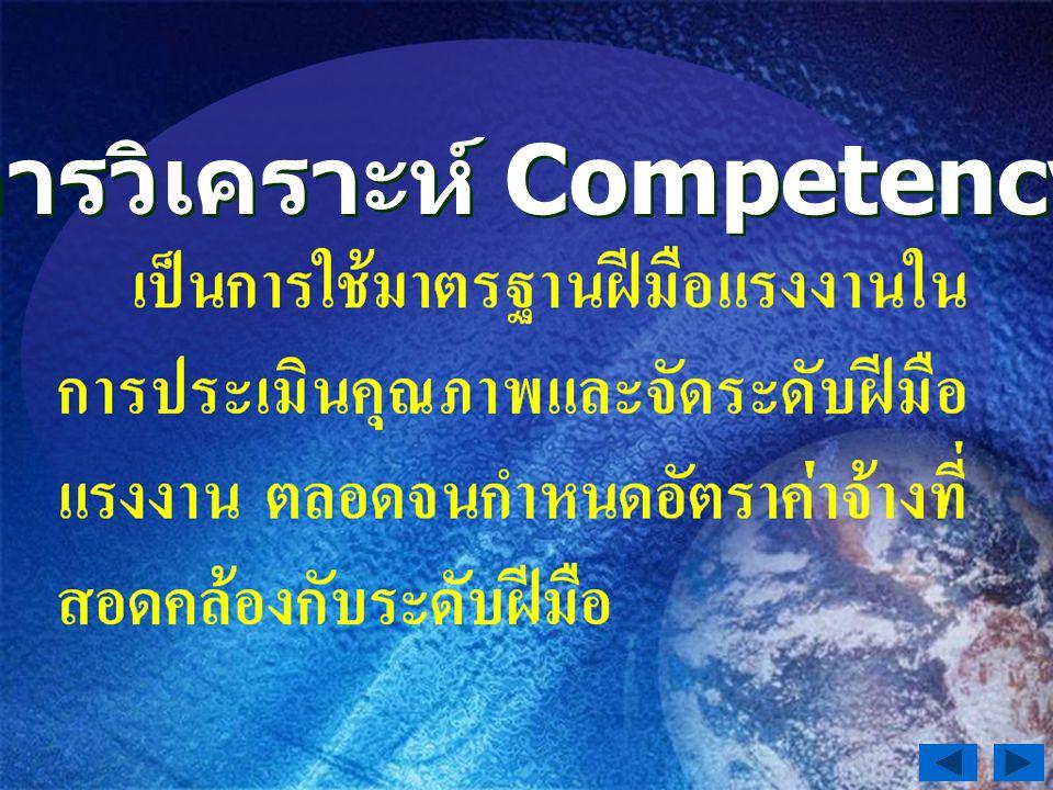 การวิเคราะห์ Competency