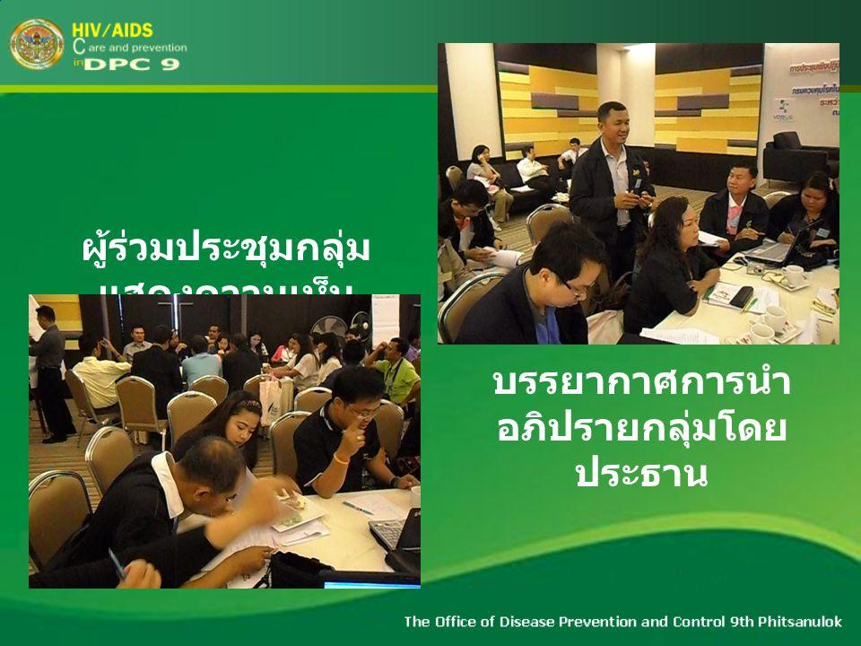 บรรยากาศการนำ อภิปรายกลุ่มโดย ประธาน ผู้ร่วมประชุมกลุ่ม แสดงความเห็น