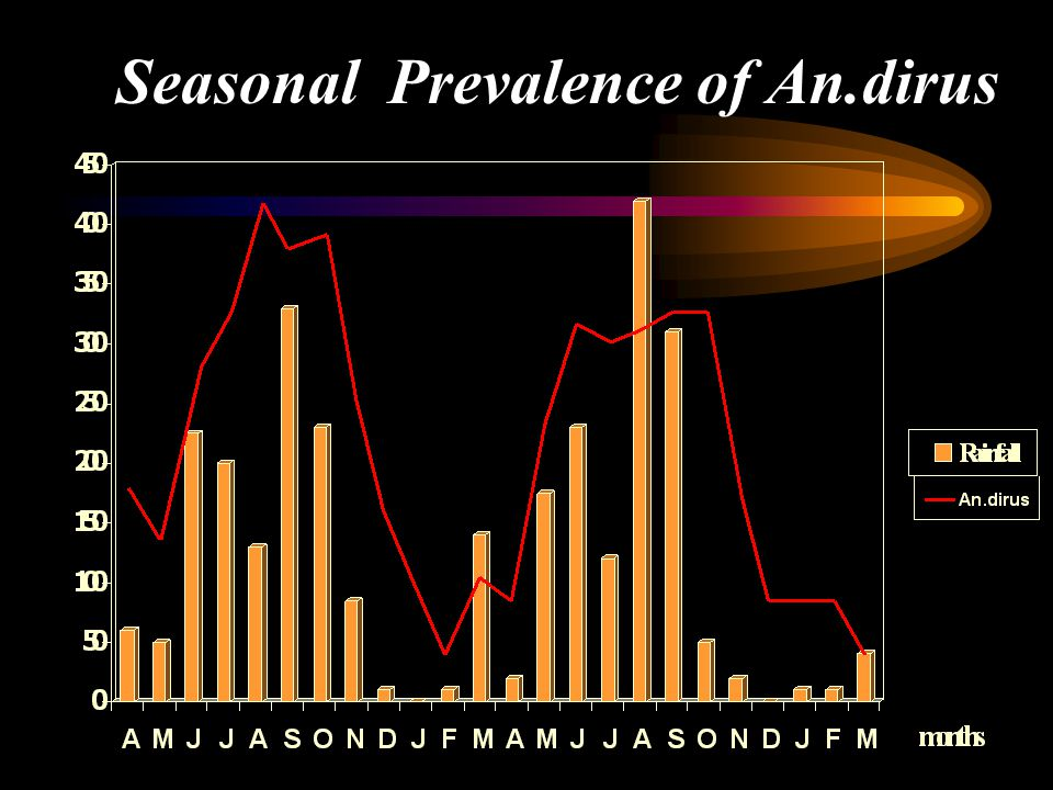 Seasonal Prevalence of An.dirus